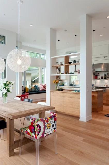 modern dining room by blurrdMEDIA