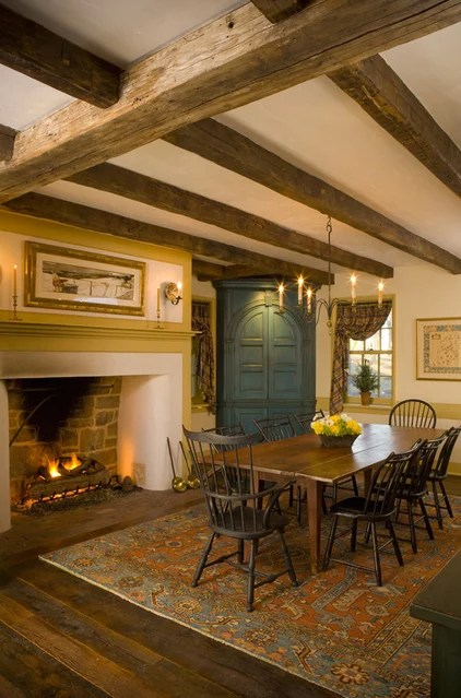 rustic dining room by Archer & Buchanan Architecture, Ltd.