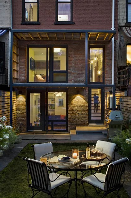 eclectic patio by CWB Architects