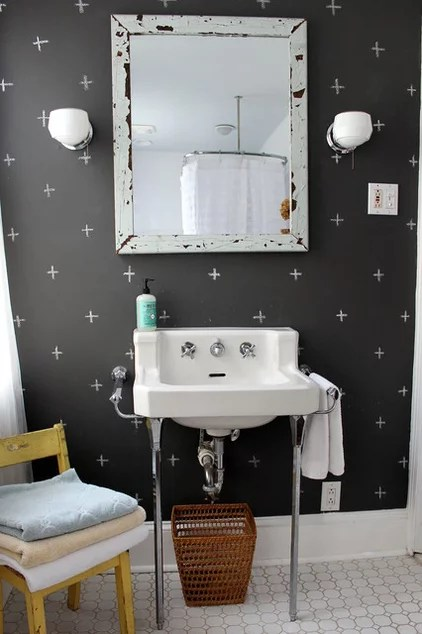 eclectic bathroom by Sara Bates