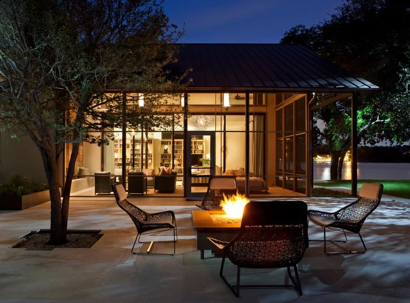 modern patio by Furman + Keil Architects