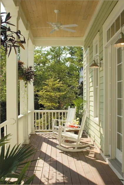 beach style porch by Tongue & Groove