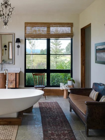 Transitional Bathroom by Snake River Interiors