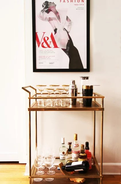Contemporary Home Bar by Facet 14 Studio LLC