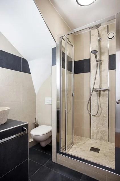 Transitional Bathroom by MSD ARCHI