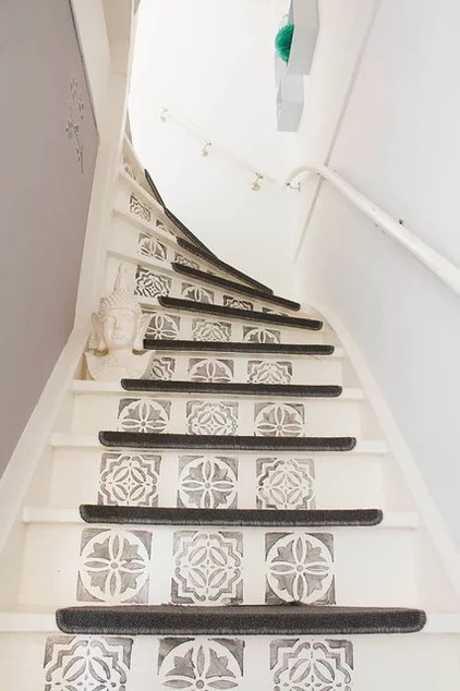 eclectic staircase by Louise de Miranda