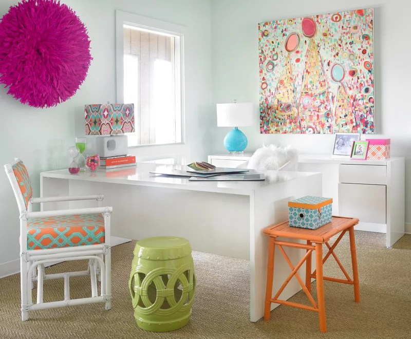 Contemporary Home Office by Leigh Olive Mowry-Olive Interiors