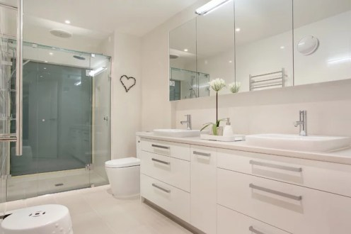 Contemporary bathroom remodeling project