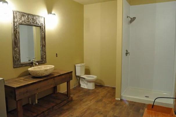 Rustic Bathroom Lake House