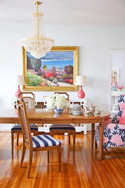 eclectic dining room by Caitlin Wilson