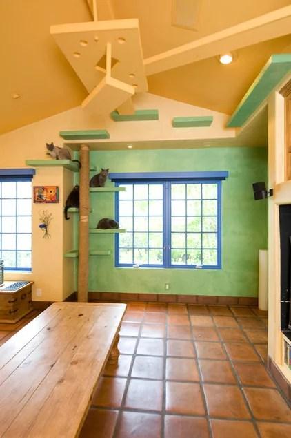 eclectic family room by Trillium Enterprises, INC.