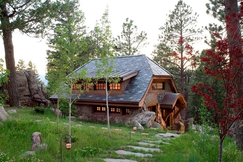rustic exterior by TKP Architects pc