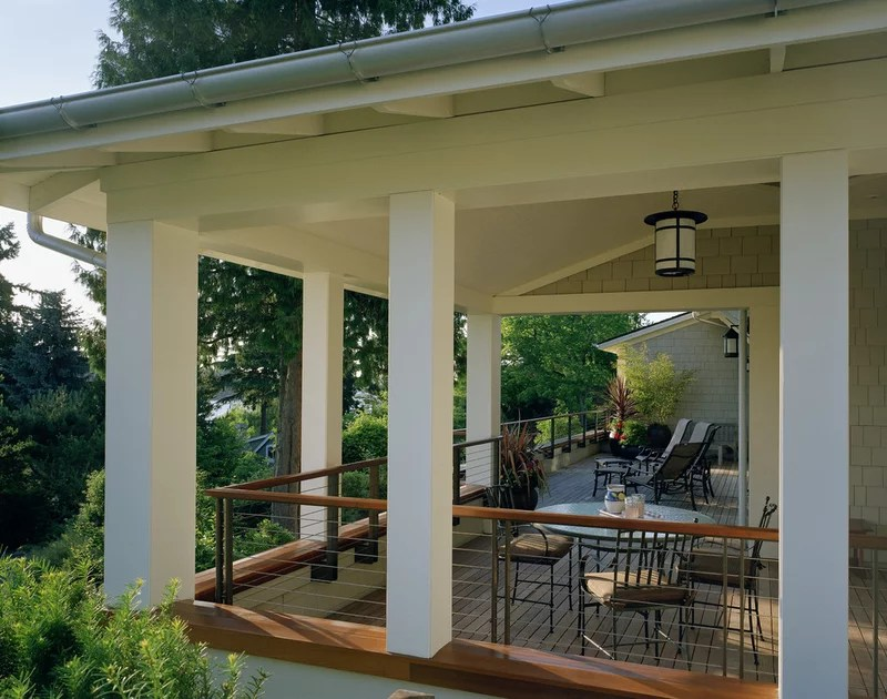 Wraparound Porches With Columns Have Curb Appeal Covered