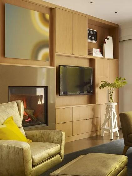 Contemporary Family Room by Steven Miller Design Studio, Inc.