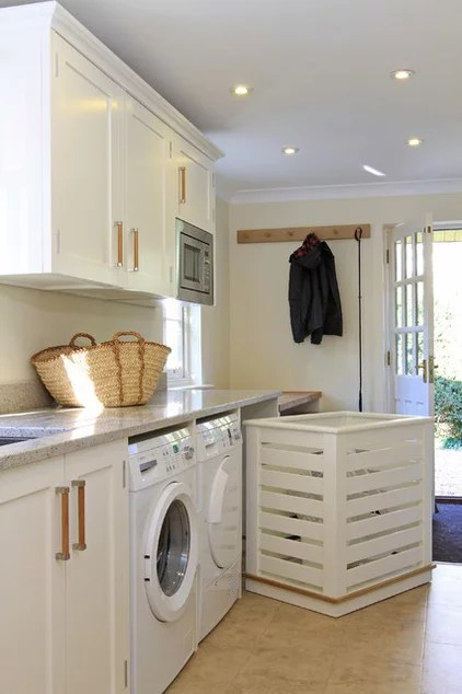 traditional laundry room by Beau-Port Kitchens