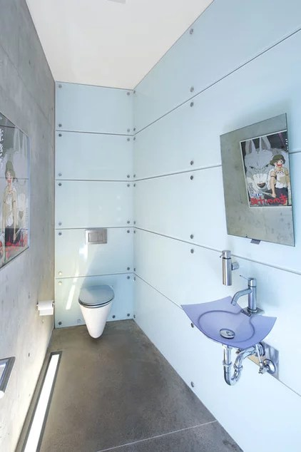 Contemporary Powder Room by Ema Peter Photography