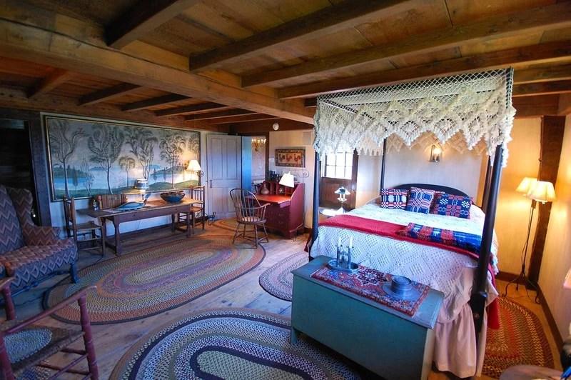 farmhouse bedroom The William Farley House