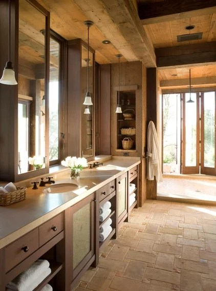 Rustic Bathroom by John K. Anderson Design