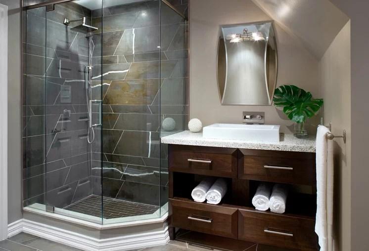 Modern Bathroom by Kathy Daukant Interiors