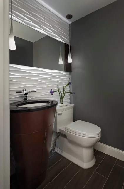 Contemporary Powder Room by Xstyles Bath + More