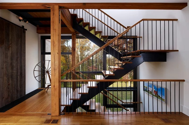 contemporary staircase by Moger Mehrhof Architects