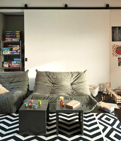 modern family room by Tamara H Design