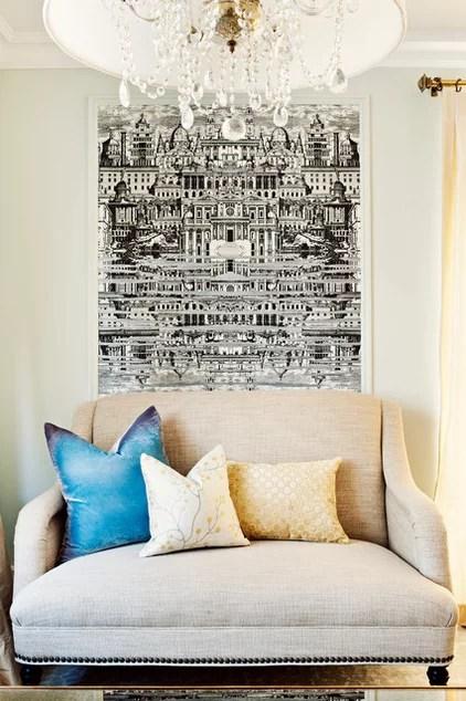 traditional living room by Elizabeth Metcalfe Interiors & Design Inc.