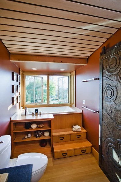farmhouse bathroom by Arkin Tilt Architects