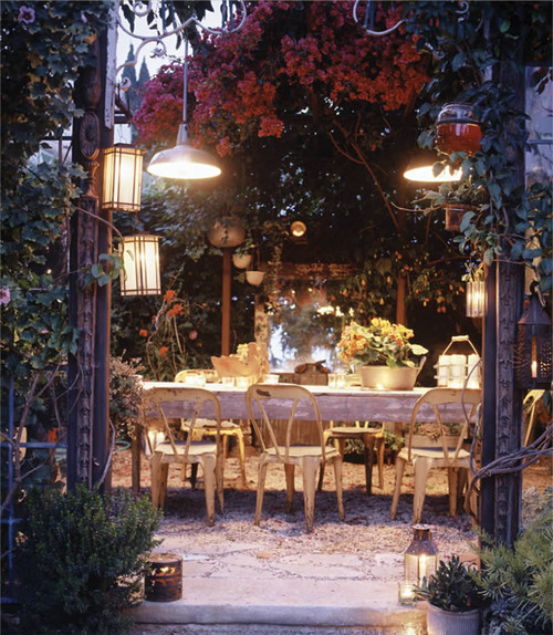 beverly drive - outdoor dining room  dining room