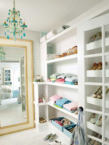 Organizational Inspiration: Neat & Beautiful Closets | Apartment Therapy DC eclectic closet