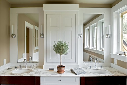 Farmhouse Reinterpreted contemporary bathroom