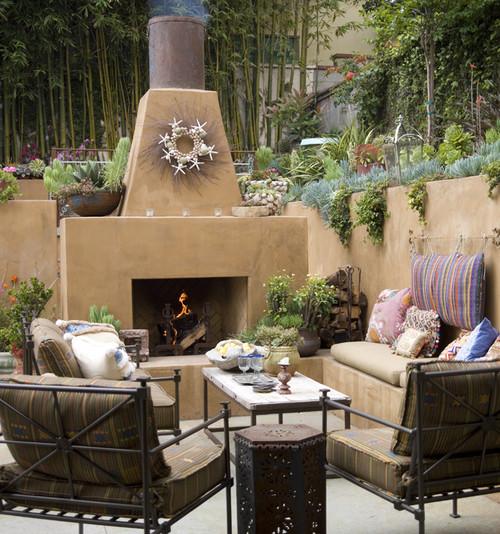 manhattan beach - outdoor patio eclectic patio