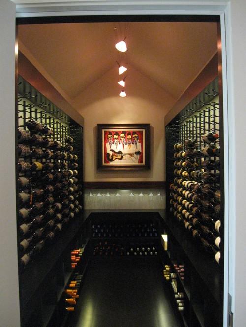 contemporary wine cellar by Kessick Wine Cellars