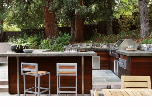 BBQ and Outdoor Kitchen contemporary patio