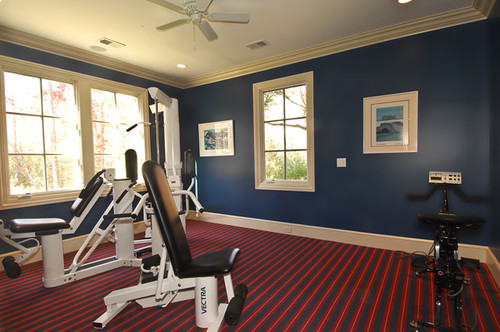 Traditional Home Gym Design By Birmingham Architect Erdreich Architecture,  P.C.
