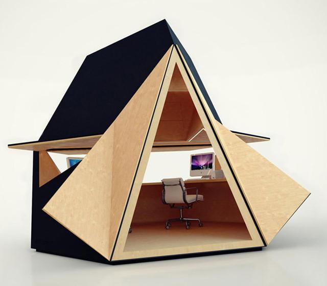 contemporary prefab studios by tetra shed