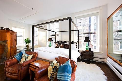 Soho Loft eclectic bedroom