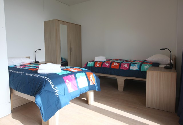 contemporary bedroom Olympic Village Athletes' Village Apartment