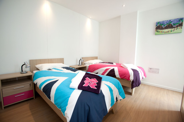 contemporary bedroom Athletes' Village Apartments