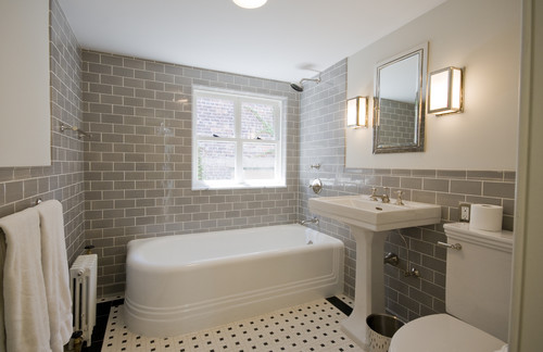Italianate Townhouse traditional bathroom