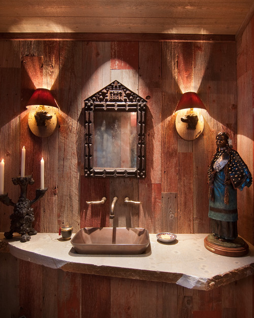 traditional powder room by Ward-Young Architects