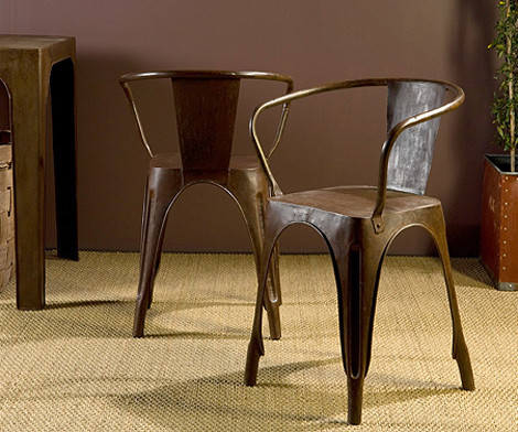 Rusted Metal Bistro Chair eclectic dining chairs and benches