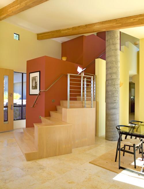 Drucker-Brownstein Residence modern staircase