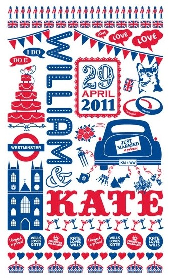William and Kate Royal Wedding print  artwork