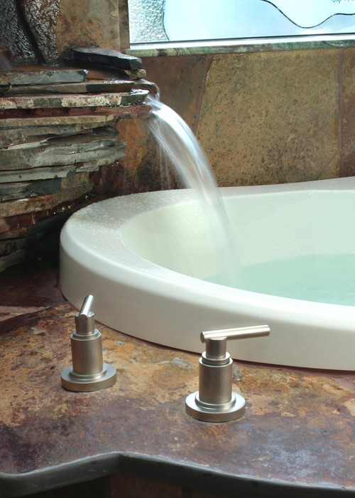 Waterfall Bath tropical bathroom