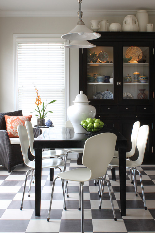Transitional Breakfast Room contemporary dining room