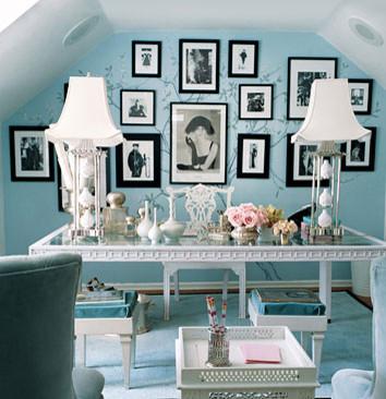 dominomag- eclectic blue bedroom eclectic bedroom