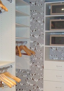 wallpaper, closet, organization, interior design