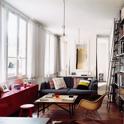 eclectic living room living space