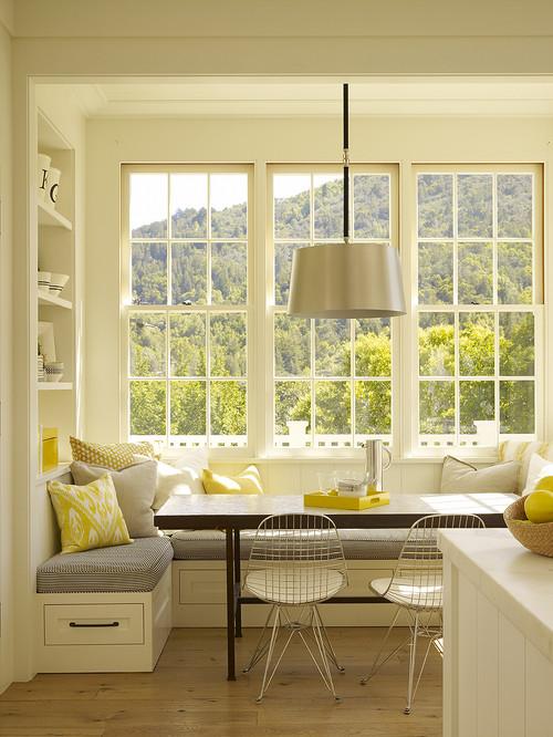 Bay window kitchen nook contemporary kitchen